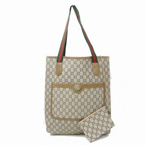 Auth Gucci Tote Bag Wh Pouch Medium #987G13